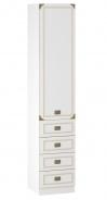 Jednodveřová skříň Sailor - bílá