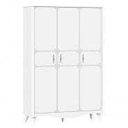 Třídveřová šatní skříň Lily - bílá