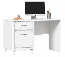 Psací stůl Lily, levý - bílá