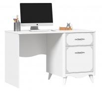 Psací stůl Lily, pravý - bílá