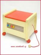 Dřevěný box na hračky s víkem