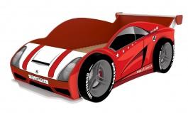 Postel Auto Racer 80x160cm se 4 koly - červená