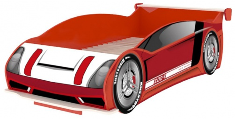 Postel Auto Racer 80x160cm - červená