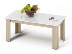 Konferenční stolek KANO sonoma/bílá lesk