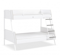 Studentská patrová postel 90x200-120x200 Pure - bílá