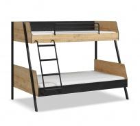 Studentská patrová postel 90x200-120x200 Sirius - dub černý/dub zlatý