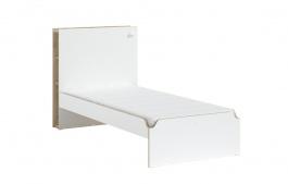 Studentská postel 100x200cm Dylan - bílá/dub světlý