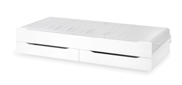Přistýlka se zásuvkami 90x200cm Pure - bílá