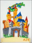 Dekorace na zeď hrad 120x90cm