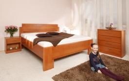 Masivní postel s úložným prostorem  Deluxe 1 - 80/90/100x200cm - 80 x 200cm