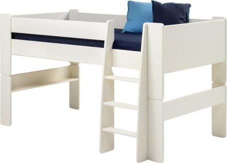 Dětská vyvýšená postel Dany - MDF/bílá