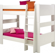 Dětská patrová postel Dany 90x200 cm -  bílá