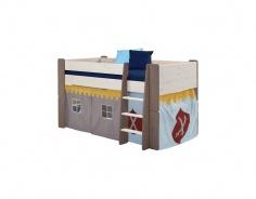 Textilní domeček k vyvýšené posteli Dany - rytířský vzor