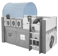 Textilní tunel k vyvýšené posteli Dany - modrá