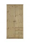 Šatní skříň Ideal 2D3S - borovice (olejovaná)