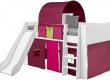 Textilní domeček k vyvýšené posteli Dany - lila/růžová