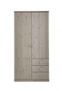 Šatní skříň Ideal 2D3S - bílá