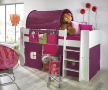 Zvýšená postel Dany - komplet - bílá/lila
