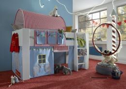 Zvýšená postel Dany - komplet- bílá/cirkus