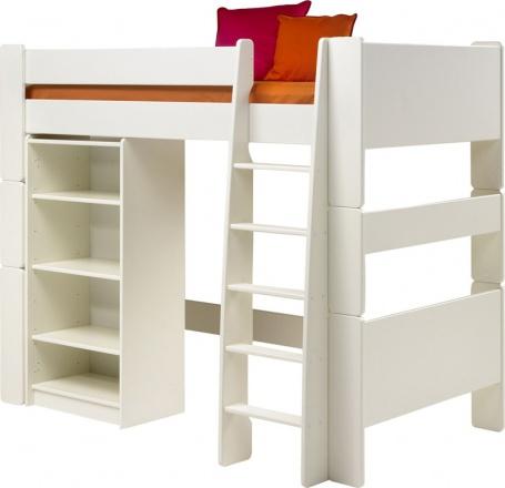 Vyvýšená postel s regálem Dany