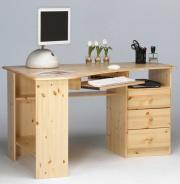 Rohový psací stůl Kent - masiv