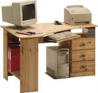 Rohový psací stůl Kent - masiv/olejovaný