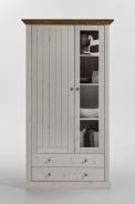 Vitrína Monako 2D2S - bílá/provence