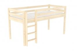Zvýšené jednolůžko - postel DOMINO D905-zábrana A - smrk
