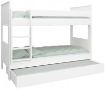 Patrová postel Daisy 90x200cm se zásuvkou - bílá