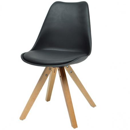 Jídelní židle Fashion - černá/masiv