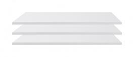 Doplňkové police k šatní skříni Angelika I (3ks) - bílá