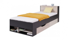 Studentská/dětská postel Saturn černá - levá/pravá