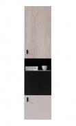 Úzká vysoká černá skříň Saturn - levá/pravá