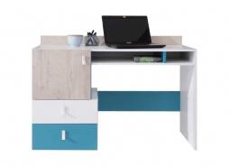 Studentský psací stůl Saturn - bílá/modrá