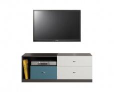 Televizní stolek Tom - atlantic/bílý/grafit