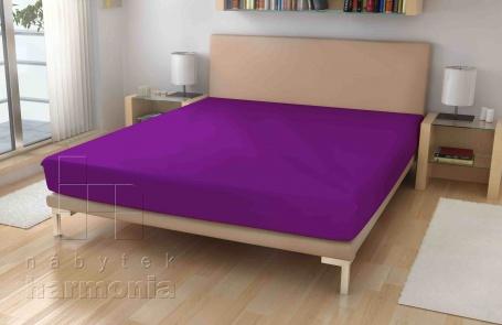 Jersey prostěradlo - Tmavě fialové