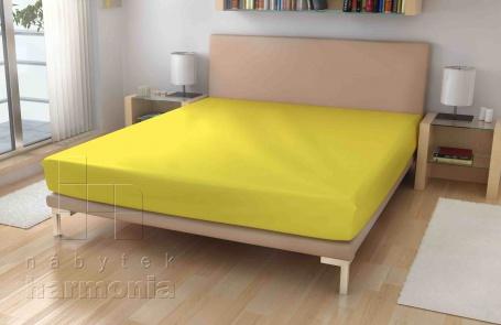Jersey prostěradlo - žluté