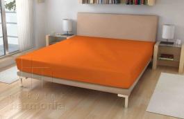 Jersey prostěradlo - Oranžové
