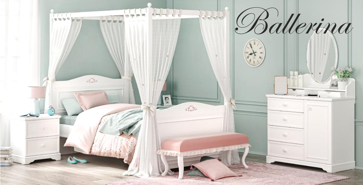 Prohlédněte si něžný nábytek BALLERINA, okouzlí vás i vaše princezny!